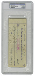 Autographs:Checks, 1955 Eppa Rixey Signed Check, PSA Authentic. The Hall of Fame leftyhurler Eppa Rixey made this check out for $60 cash in 1...