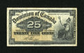 Canadian Currency: , DC-15b 25¢ 1900.. ...