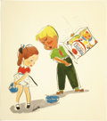 Illustration:Advertising, EARL OLIVER HURST (American 1895 - 1958) . Post Toasties CornFlakes, original advertising illustration for Collier's,...(Total: 1 Item)