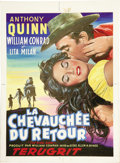Illustration:Advertising, FRENCH ILLUSTRATOR (French 20th Century) . La Chevauchee DuRetour, original French movie poster illustration . Gouache ...(Total: 1 Item)