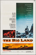 """Movie Posters:Western, The Big Land & Other Lot (Warner Brothers, R-1964). Folded,Fine/Very Fine. One Sheets (2) (27"""" X 41"""") & Lobby Cards (3)(11... (Total: 5 Items)"""
