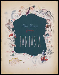 Fantasia (RKO, 1940). Program (Multiple Pages). This is a vintage, original program for Walt Disney's animated masterpie...