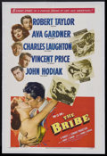 """Movie Posters:Drama, The Bribe (MGM, 1949). One Sheet (27"""" X 41""""). Drama. Starring Robert Taylor, Ava Gardner, Charles Laughton, Vincent Price an..."""