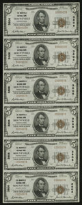 National Bank Notes:Pennsylvania, Mountville, PA - $5 1929 Ty. 1 The Mountville NB Ch. # 3808 UncutSheet. This was the seventh sheet of Type 1 $5s printe...