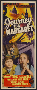 "Movie Posters:War, Journey for Margaret (MGM, 1942). Insert (14"" X 36""). Drama.Starring Robert Young, Laraine Day, Fay Bainter, Nigel Bruce, M..."