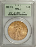Saint-Gaudens Double Eagles: , 1930-S $20 MS64 PCGS. A classic example of this rare date. DavidAkers considers the 1930-S to be the sixth rarest date of ...