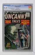 Golden Age (1938-1955):Horror, Uncanny Tales #37 (Atlas, 1955) CGC FN- 5.5 Off-white pages....