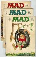 Magazines:Mad, Mad Magazine Group (EC, 1970-72) Condition: Average VG.... (Total: 9)