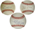 Autographs:Baseballs, New York/San Francisco Giants Greats Single Signed Baseballs Lot of3. The hallowed organization that has played under the ...