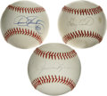 Autographs:Baseballs, Baseball Hall of Famers Single Signed Baseballs Lot of 3. Each ofthe contributions to this lot consists of a fine sweet sp...