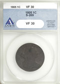 Large Cents, 1805 1C VF30 ANACS....