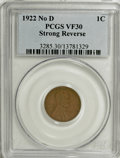 Lincoln Cents, 1922 No D 1C Strong Reverse VF30 PCGS....