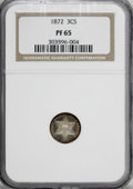 Proof Three Cent Silver, 1872 3CS PR65 NGC....