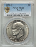 Eisenhower Dollars, 1976-D $1 Type One MS66+ PCGS Secure. PCGS Population: (339/6 and 23/0+). NGC Census: (278/8 and 0/0+). CDN: $135 Whsle. Bi...