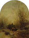 Fine Art - Painting, American:Antique  (Pre 1900), ALBERT FITCH BELLOWS (American 1829-1883). A Full Wagon,1867. Oil on canvas. 15 x 11-1/2 inches (38.1 x 29.2 cm). Signe...