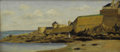 Fine Art - Painting, European:Antique  (Pre 1900), After CHARLES FRANÇOIS DAUBIGNY (French 1817-1878). View of St. Malo. Oil on wood panel. 6-1/2 x 14 inches (16.5 x 35.6 ...
