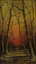 Fine Art - Painting, American:Antique  (Pre 1900), CARL CHRISTIAN BRENNER (American 1838-1888). A WintrySunglow, 1888. Oil on canvas. 14 x 18 inches (35.6 x 45.7 cm).Sig...