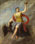 Fine Art - Painting, European:Antique  (Pre 1900), Circle of ANGELICA KAUFFMANN (Swiss 1741-1807). Hebe on Jupiter's Eagle. Oil on canvas. 39 x 31-1/2 inches (99.1 x 80.0 ...