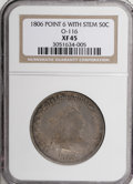 Early Half Dollars, 1806 50C Pointed 6, Stem XF45 NGC....