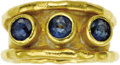 Estate Jewelry:Rings, Sapphire, Gold Ring, Jean Mahie. The ring features round-cut sapphires weighing a total of approximately 1.70 carats, set ... (Total: 1 Item)