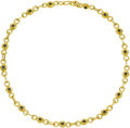 Estate Jewelry:Necklaces, Diamond, Sapphire, Gold Necklace, Jean Mahie. The double-sidednecklace features fancy 22k yellow gold links enhanced on o...(Total: 1 Item)