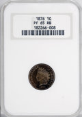 Proof Indian Cents, 1876 1C PR65 Red and Brown NGC....
