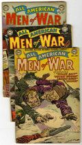 Golden Age (1938-1955):War, All-American Men of War #2 and 9-11 Group (DC, 1953-54) Condition:Average GD....