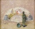 Fine Art - Painting, American:Modern  (1900 1949)  , EMIL CARLSEN (American 1853 - 1932). The French Fan, 1922.Oil on board. 15 x 18 inches. Signed and dated lower left:...