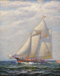 Fine Art - Painting, American:Modern  (1900 1949)  , JAMES GALE TYLER (American 1855-1931). Vessel at Sea, circa1925. Oil on canvas. 20 x 16 inches (50.8 x 40.6 cm). Signed...