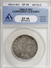1892-O 50C --Corroded, Cleaned--ANACS. XF45 Details....(PCGS# 6462)