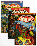 Bronze Age (1970-1979):Horror, Tomb of Dracula Group (Marvel, 1973-74) Condition: Average VF+....(Total: 4 Comic Books)