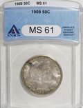 Barber Half Dollars, 1909 50C MS61 ANACS....