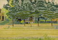 Fine Art - Painting, American:Modern  (1900 1949)  , CHARLES EPHRAIM BURCHFIELD (American 1893-1967). LateAfternoon, 1916. Watercolor and pencil on paper. 14 x 20 inches(3...