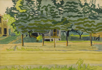 CHARLES EPHRAIM BURCHFIELD (American 1893-1967) Late Afternoon, 1916 Watercolor and pencil on paper<