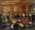 Fine Art - Painting, European:Antique  (Pre 1900), FRENCH SCHOOL (Nineteenth Century). Interior of a Ballroom.Pastel on paper supported by wood board. 23-1/2 x 28 inches ...