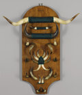 Texas, UNKNOWN MAKER. Longhorn Wall Hanging, early 1900s. 52 x 43 x12 inches (132.1 x 109.2 x 30.5 cm). Unsigned. ...
