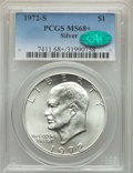 Eisenhower Dollars, 1972-S $1 SILVER MS68+ PCGS. CAC. PCGS Population: (1971/25 and 20/0+). NGC Census: (449/5 and 0/0+). Mintage 2,193,05...