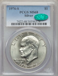Eisenhower Dollars, 1976-S $1 Silver MS68 PCGS. CAC. PCGS Population: (860/0). NGC Census: (95/0). Mintage 11,000,000. ...