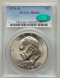 Eisenhower Dollars, 1974-D $1 MS66+ PCGS. CAC. PCGS Population: (555/26 and 46/4+). NGC Census: (640/10 and 2/1+). CDN: $85 Whsle. Bid for prob...