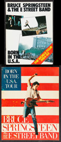 Movie Posters:Rock and Roll, Bruce Springsteen and the E Street Band: Born in the U.S.A. TourLot (T-Shirt Merchandise, 1984/1985). Tour Programs (2) (Mu...(Total: 2 Items)