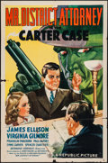"""Movie Posters:Crime, Mr. District Attorney in the Carter Case (Republic, 1941). OneSheet (27"""" X 41""""). Crime.. ..."""