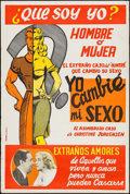 "Movie Posters:Exploitation, Glen or Glenda (I Led Two Lives) (Screen Classics Inc., 1953).Argentinean Poster (29"" X 43.5""). Exploitation.. ..."