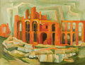 Texas:Early Texas Art - Modernists, BROR UTTER (1913-1993). Untitled Ruins with Arches, 1957. Oil on linen. 28 x 36 inches (71.1 x 91.4 cm). Signed and date...