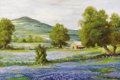 Texas:Early Texas Art - Impressionists, ROBERT WOOD (1889-1979). Bluebonnet Time in Texas. Oil oncanvas. 24 x 30 inches (61.0 x 76.2 cm). Signed lower right. S...