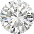 Estate Jewelry:Unmounted Diamonds, Unmounted Diamond. The unmounted round brilliant-cut diamondmeasures 6.33 - 6.37 x 3.89 mm and weighs 0.97 carat. An AGS ...(Total: 1 Item)