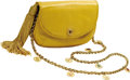 Estate Jewelry:Purses, Multi-Stone, Reptile Leather Handbag, Judith Leiber. The handbagfeatures yellow reptile leather, completed by a magnetic ...(Total: 1 Item)