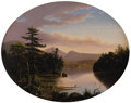 Fine Art - Painting, American:Antique  (Pre 1900), AMERICAN SCHOOL (Late Nineteenth Century). Pair ofLandscapes. Oil on canvas. 16 x 20 inches oval (40.6 x 50.8cm). ... (Total: 2 Items)