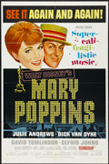 "Movie Posters:Fantasy, Mary Poppins (Buena Vista, 1964). Academy Award One Sheet (27"" X41""). Fantasy...."