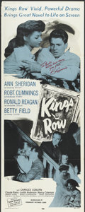 """Movie Posters:Drama, Kings Row (Warner Brothers, R-1956). Autographed Insert (14"""" X 36""""). Drama...."""