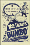 "Movie Posters:Animated, Dumbo (Buena Vista, R-1950s). One Sheet (27"" X 41""). Animated...."